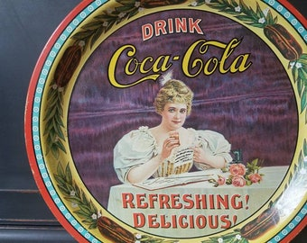 Vintage Coca Cola Tray, Round, Numbered, 75th Anniversary, Norfolk Virginia, Collectible, Advertising, Home Decor