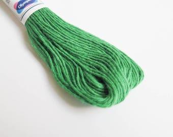 Sashiko Thread | 100% Cotton Japanese Thread for Sashiko, Big Stitch Quilting, Embroidery - VIRIDIAN GREEN (#26)