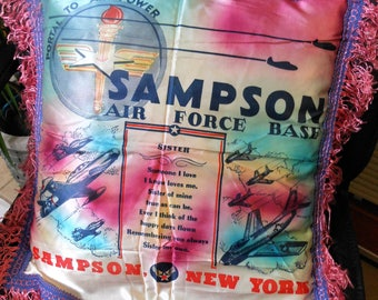 """Vintage """"Sister""""AirForce commerative Pillow Cover, vintage"""