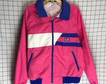 Vintage 80's/90's CB Sports Bright Pink & Purple Windbreaker