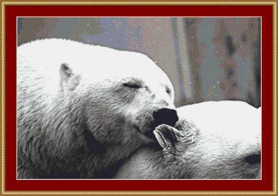 Polar Bears Cross Stitch Pattern /Digital PDF Files /Instant downloadable