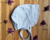 Bone Chambray linen+cotton || Babes, Tots, and Little Girls || sun hat