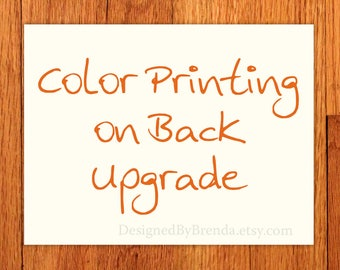 Color Printing on Back Upgrade