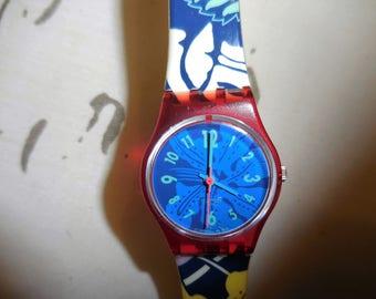 "Vintage Women's Swatch Swiss Watch S103  1990""s"