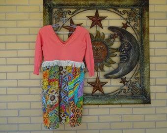 Women's Upcycled Sweater Boho Tunic Size XS