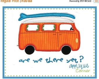 40% OFF 526 Are  We There Yet Van applique digital design for embroidery machine by Applique Corner