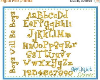 40% OFF INSTANT DOWLOAD Boys Will Be Boys Font in pes and dst only digital design for embroidery machine by Applique Corner