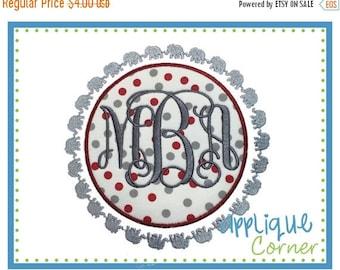 40% OFF INSTANT DOWNLOAD Elephant 1 Filled Border Patch applique digital design for embroidery machine by Applique Corner