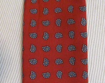 "Solid Red Skinny 2 Layer Neck Tie Scarf - 2"" x 44"" Long - Affordable Scarves!!!"