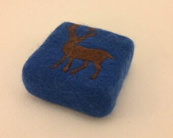 Medium Woodlands Buck Felted Soap
