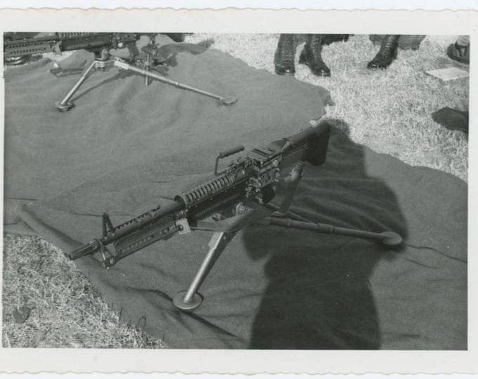 Vintage Photo Snapshot: Machine Gun, 1961 (76588)