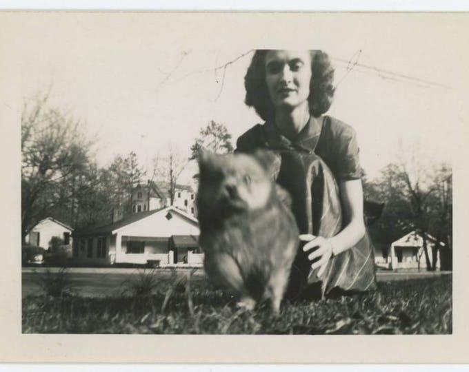 Vintage Photo Snapshot: Running Dog, c1940s (76589)