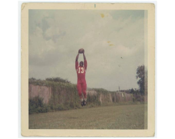 Vintage Photo Snapshot: Football Player, c1960s (77590)