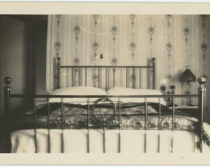 Waldorf Hotel, London, c1930s-40s: Room Interior, Vintage Snapshot Photo (77595)