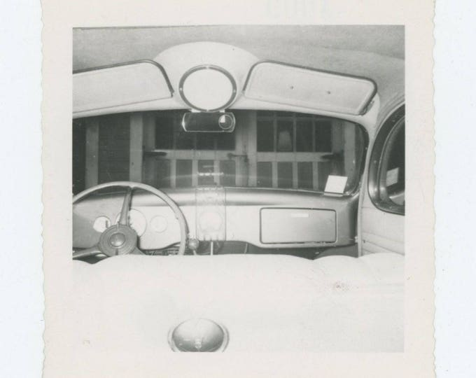 Vintage Snapshot Photo: View from Back Seat (711619)