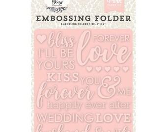 WEDDING BLISS EMBOSSiING FOLDeR -  Echo Park  -  Bridal Wedding Anniversary Theme  5x6