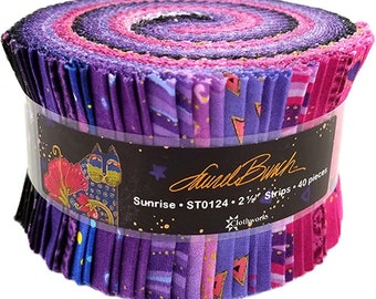 Clothworks, Laurel Burch, Sunrise, Jelly Roll Fabric Pack