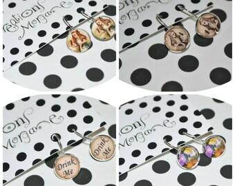 choix de boucles d'oreilles Alice/earrings Alice