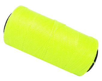 15 meters wire Polyester wax 0.8 mm - Macrame - neon yellow