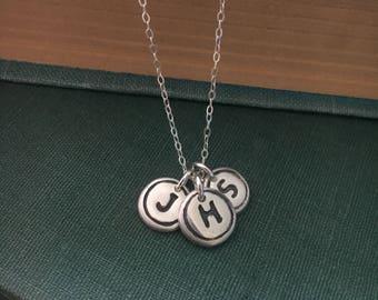 Typewriter Key Initial Necklace