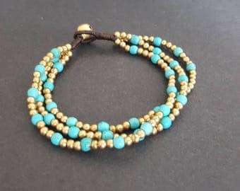 Chain Turquoise Stone  Bracelet