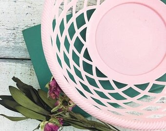 SUMMER SALE Super Cute Pink Vintage Basket