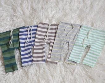 Striped Newborn pants - stretch fabric mocha and cream beige brown green grey stripes photography prop Baby boy pants