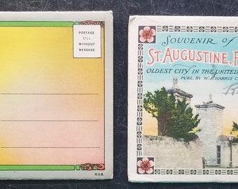 Vintage Souvenir Postcard Folders Folding Postcard lot of 2