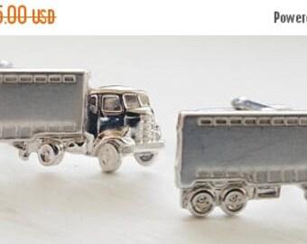 ON SALE Vintage Truck Driver Trucker Cuff Links, Semi Trailer Truck  Cufflinks