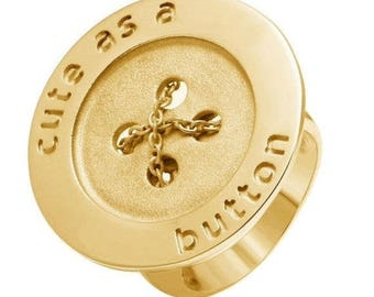 ON SALE Button Ring