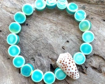 Hawaiian Flea Cone Shell Bracelet