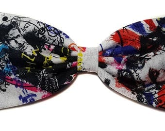 Doctor Who Graffitti Hair Bows- Sci Fi- Gift for Her, Sci Fi, Nerdy, Novelty