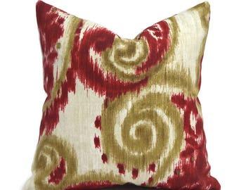 Outdoor Pillows Outdoor Pillow Covers Decorative Pillows ANY SIZE Pillow Cover Red Pillows Richloom Outdoor Sorista Cherry