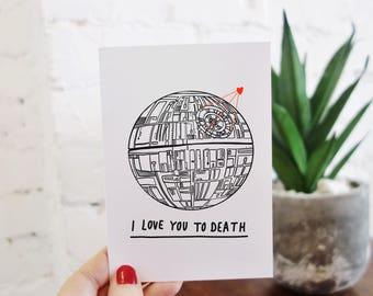 Star Wars Death Star Valentine's Card