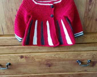 Crochet little girl's sweater