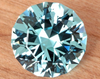 15.76 Carat Brazilian Sky Blue Topaz Gemstone Precision Cut Gem