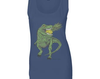 Dinosaur Pineapple ladies vest top
