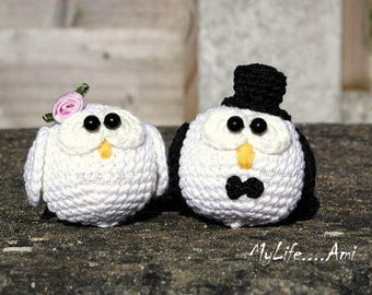 MyLife....Ami Wedding Owls Cake Toppers