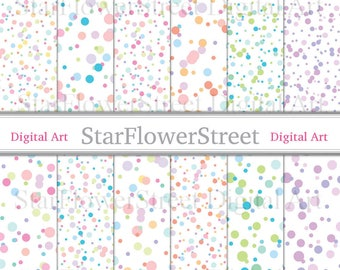 Confetti overlay png digital paper transparent pastel dots polka dot overlays baby sprinkle photography pink wedding party turquoise purple