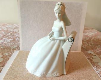 Wedding figurine,vintage wedding,porcelain bridal figurine