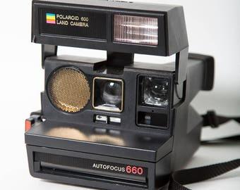 Polaroid Autofocus 660 Instant Camera 1980s 600 Film Impossible Project Film