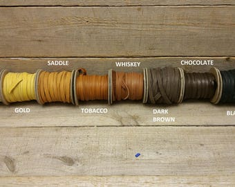 "Deerskin Deer Leather Lace Spool Roll 1/4"" x 25 FT Lacing Cord String Craft F-2"