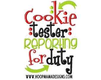 Cookie Tester - Funny Christmas Custom Tee Shirt - Embroidered tee
