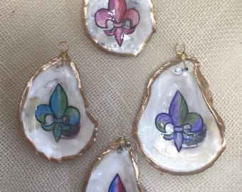 Colored Fleur de Lis Ornaments
