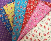 Tiny Florals - Pink Florals - Red Florals - Aqua Florals - Bundles - Lecien Fabric - Flower Sugar Berry