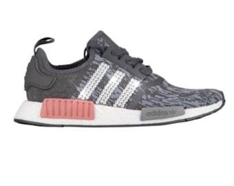 Bling ADIDAS NMD R1 -bling Adidas- bling women's adidas sneakers- pink gray bling adidas- crystal adidas shoes- rare bling- new adidas nmd