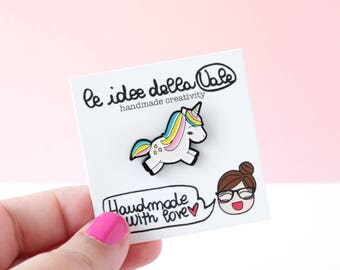 Unicorn Enamel Pin (brooch) - Soft Enamel pin badge - lapel pin