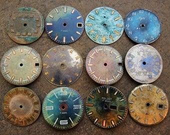Vintage Watch Faces - set of 12 - c157