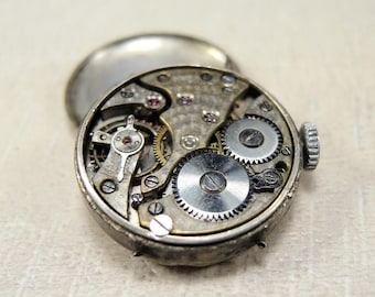 Rare Watch Movement with dial and case - Lanco - c106