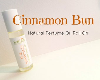 Cinnamon Bun Perfume - Perfume Oil - Cinnamon Perfume - Cinnamon Roll Perfume - Cinnamon Fragrance-  .3 oz Glass Roll On Bottle